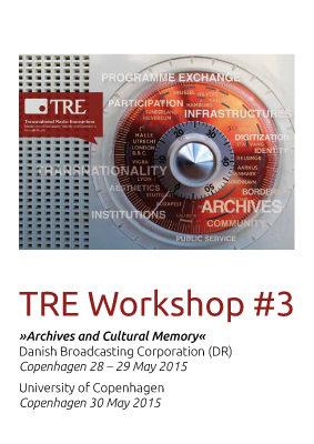 TRE Workshop #3 Program